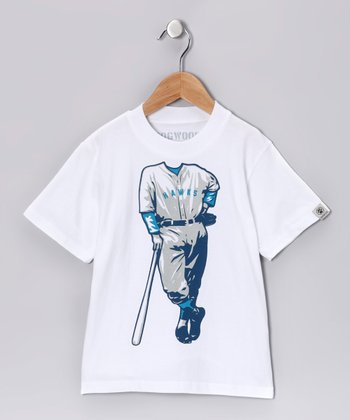 White 'Hawks' Tee - Toddler & Boys
