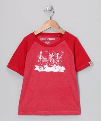 Red '4 Fathers' Raglan Tee - Infant, Toddler & Kids