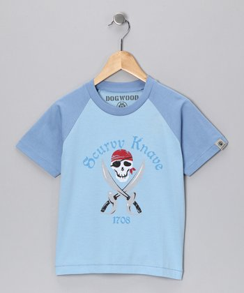 Chambray Blue 'Scurvy Knave' Tee - Toddler & Boys