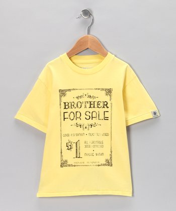 Yellow 'Brother for Sale' Tee - Infant