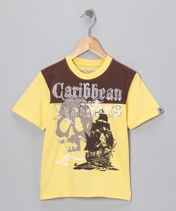 Yellow 'Caribbean Raiders' Tee - Toddler & Kids