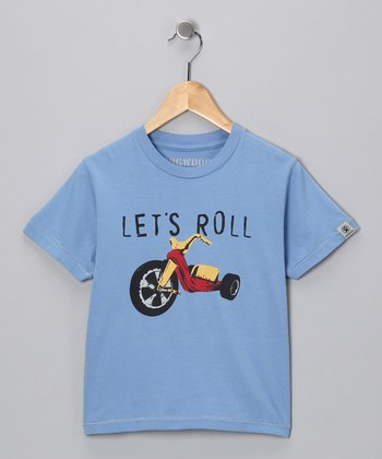 Blue 'Let's Roll' Tee - Boys