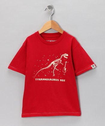 Red 'Tyrannosaurus Rox' Tee - Infant, Toddler & Boys