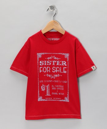 Red Retro 'Sister for Sale' Tee - Infant