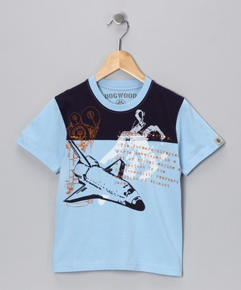Sky Blue Space Shuttle Tee - Infant & Toddler