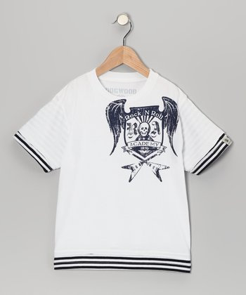 White 'Rock Academy' Tee - Toddler & Kids