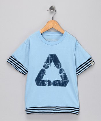 Sky Blue Skate Cycle Tee - Toddler & Kids