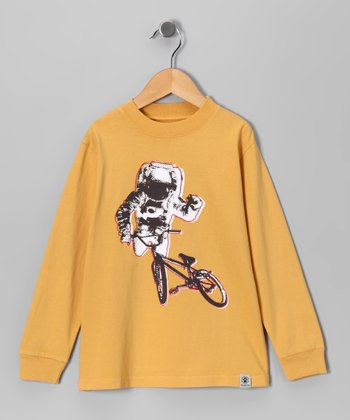 Gold Astro Biker Tee - Toddler & Kids