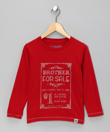 Red 'Brother for Sale' Tee - Infant, Toddler & Kids