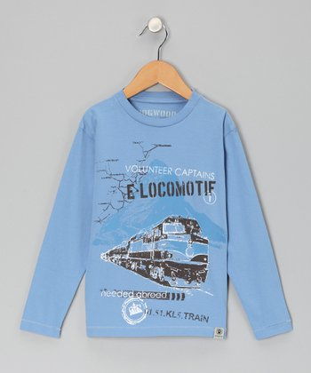 Blue Locomotive Tee - Infant & Toddler