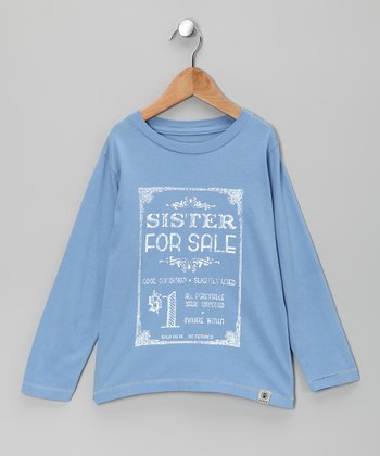 Chambray 'Sister for Sale' Tee - Infant, Toddler & Kids