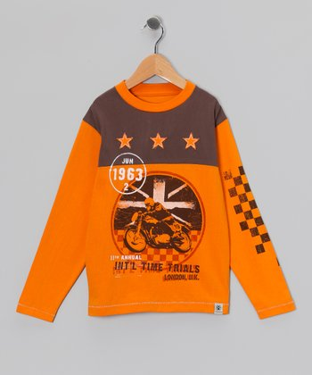 Orange Motor 'Time Trials' Tee - Toddler & Boys