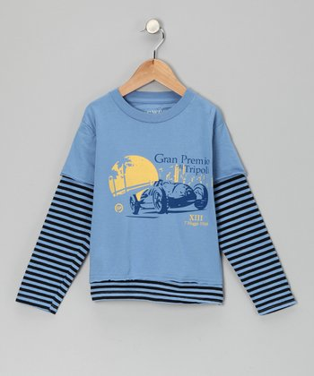 Blue 'Gran Premio' Layered Tee - Toddler & Kids