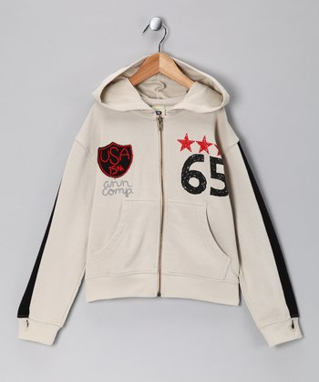 Stone '65' Zip-Up Hoodie - Toddler & Boys
