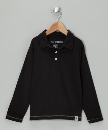 Black Polo - Toddler & Boys