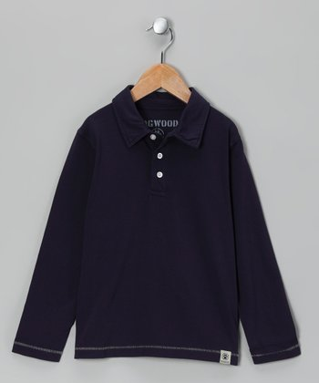 Navy Polo - Infant, Toddler & Boys
