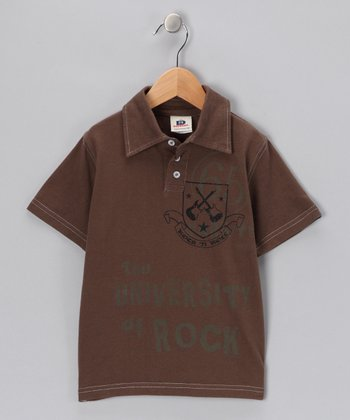 Cocoa 'University of Rock' Polo - Toddler & Boys