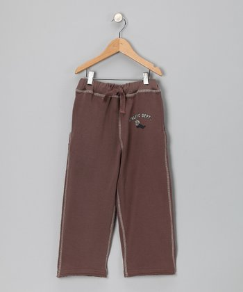Brown 'Athletic Dept.' Sweatpants - Infant, Todder & Boys