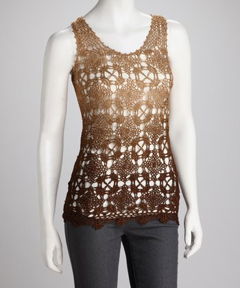 Coffee Crochet Tank