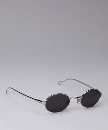 Shiny Silver Circle Sunglasses