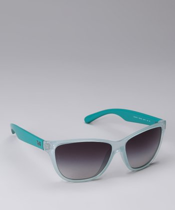 Teal Two-Tone Sunglasses