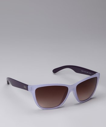 Lilac Two-Tone Sunglasses