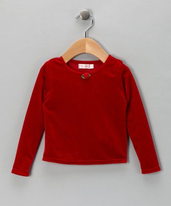 Red Velvet Top - Infant & Toddler