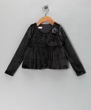 Silver Velvet Jacket - Infant & Toddler