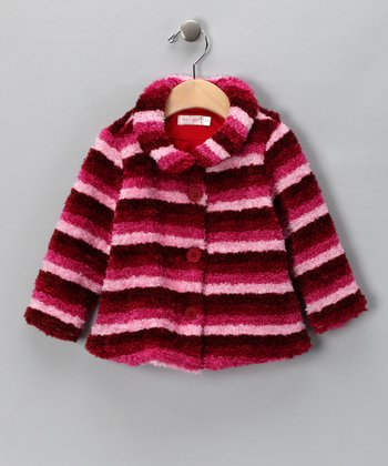 Pink Stripe Plush Jacket - Infant & Toddler