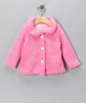 Pink Plush Jacket - Infant & Toddler