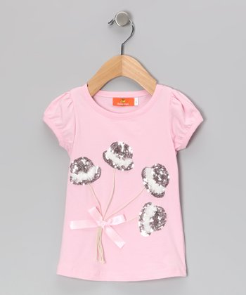 Pink Sequin Top Hat Tee - Toddler & Girls