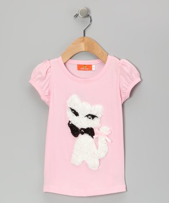 Pink Ruffle Cat Tee - Toddler & Girls