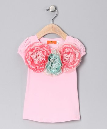 Pink Rosette Trio Top - Toddler & Girls