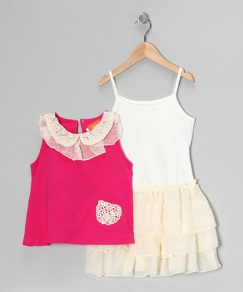 Rose Crocheted Top & Dress - Toddler & Girls