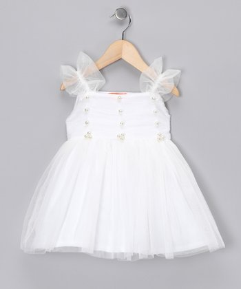 White Princess Dress - Girls