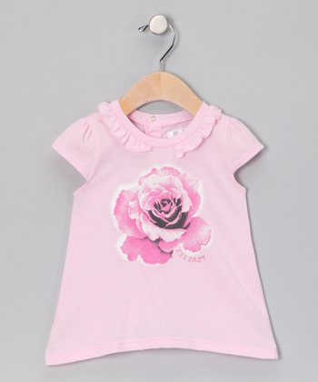 Pink Flower Cap-Sleeve Tee - Infant & Toddler