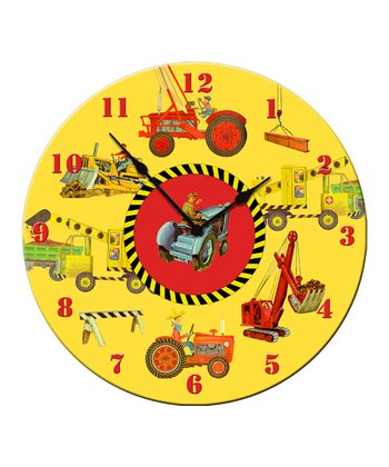 Heavy Machinery Clock