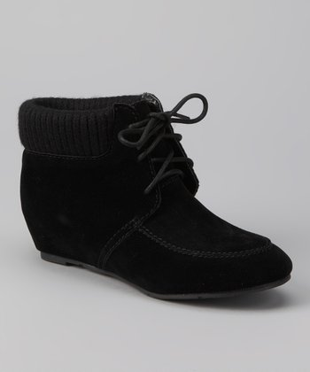 DV by Dolce Vita Black Suede Piri Ankle Boot