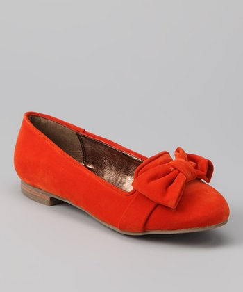 DV by Dolce Vita Orange Red Stella Suede Wenna Flat