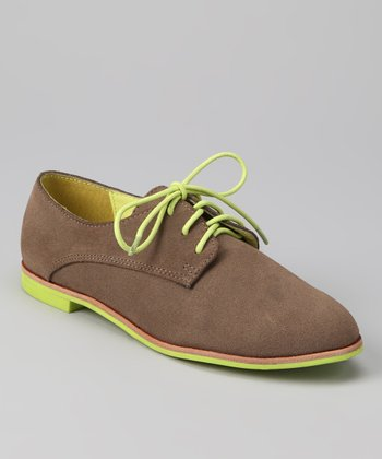 DV by Dolce Vita Taupe Suede Oxford