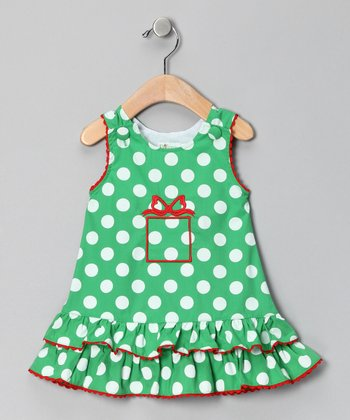 Green Polka Dot Jumper - Infant, Toddler & Girls
