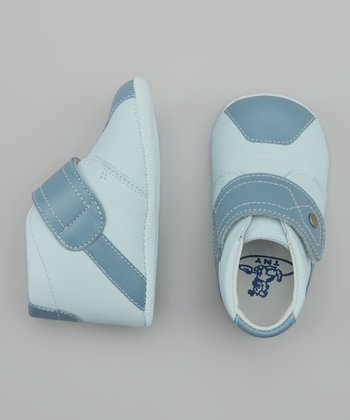 Blue Two-Tone Velcro Hi-Top Shoe