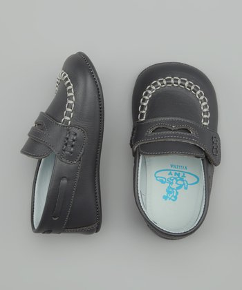 Doll & Carl Gray Velcro Moccasin
