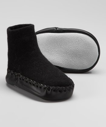 Black Slipper Sock
