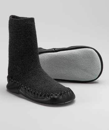 Charcoal Slipper Sock