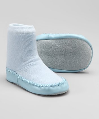 Light Blue Slipper Sock
