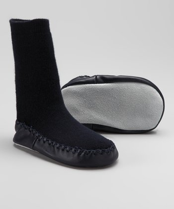 Navy Slipper Sock