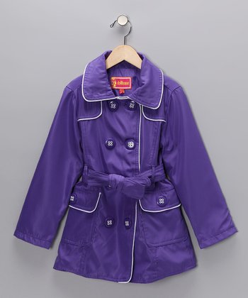 Purple Trench Coat - Girls