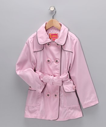 Pink Trench Coat - Girls