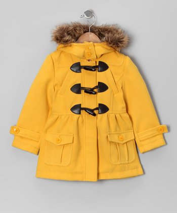 Marigold Toggle Peacoat - Toddler